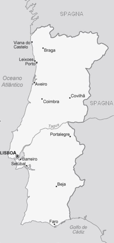 Cartina Muta Della Spagna Da Completare.Cartina Portogallo Da Stampare
